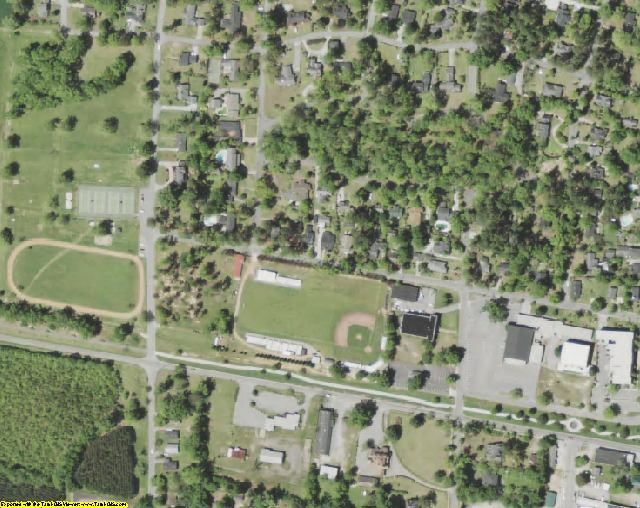 Marion County, SC aerial photography detail