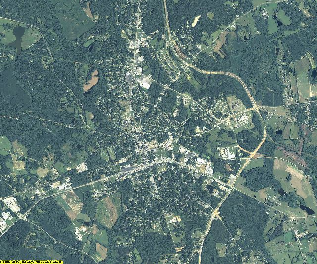 McDuffie County, Georgia aerial photography