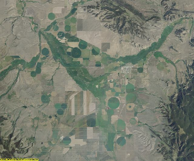 Meagher County, Montana aerial photography