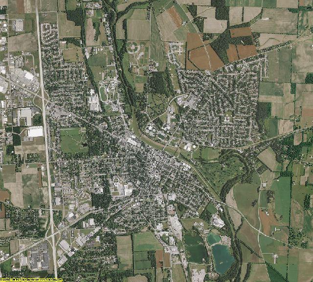 Miami County, Ohio aerial photography