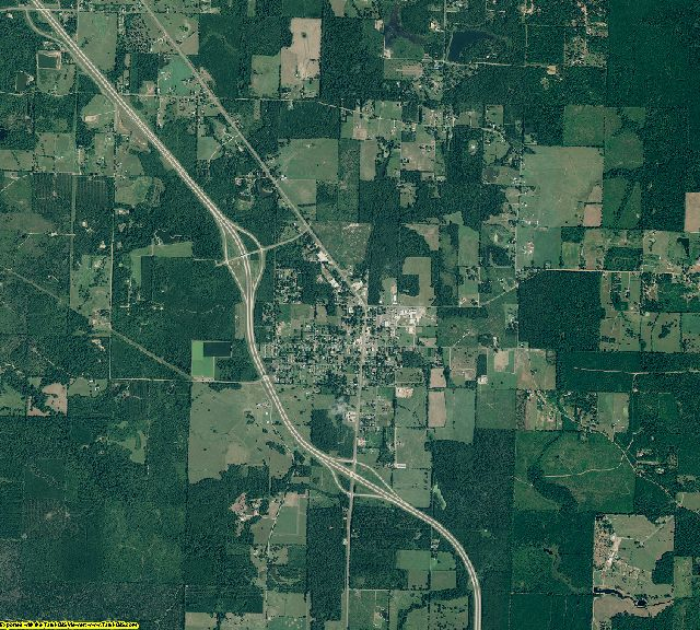 Miller County, Arkansas aerial photography