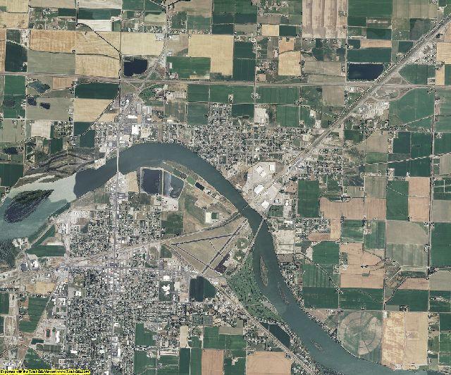 Minidoka County, Idaho aerial photography