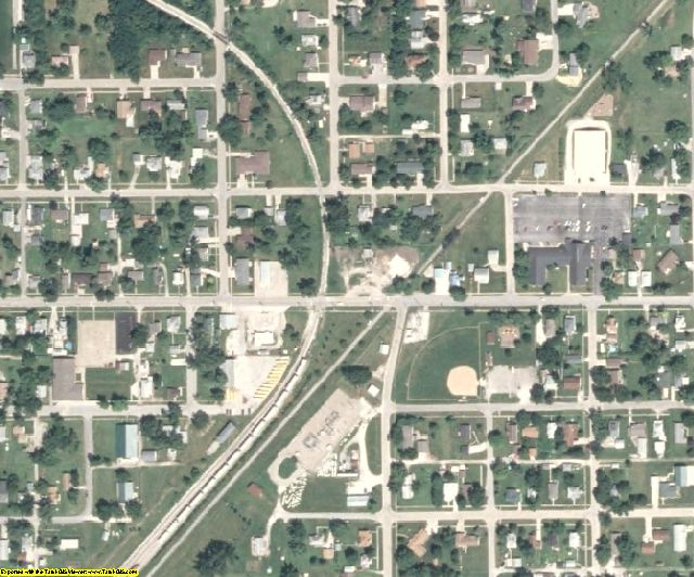 Monroe County, IA aerial photography detail