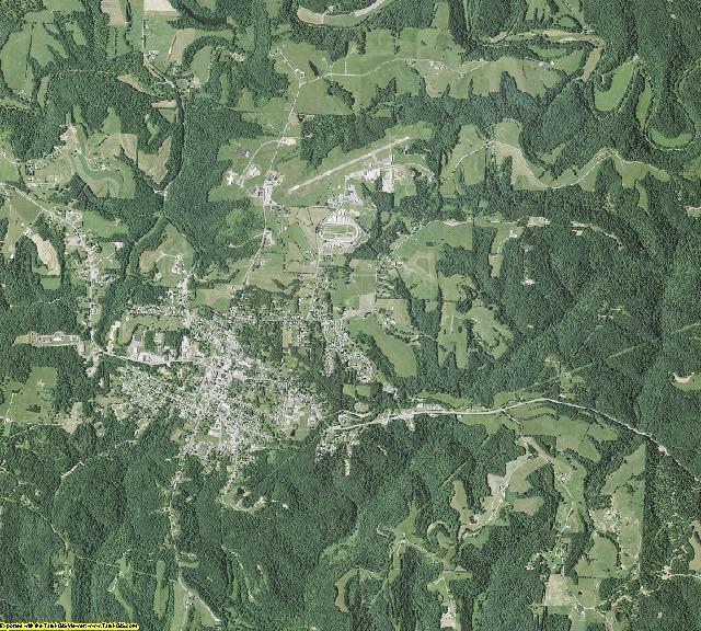 Monroe County, Ohio aerial photography