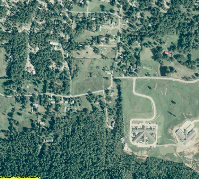 Montgomery County, AR aerial photography detail