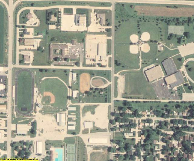Montgomery County, IA aerial photography detail