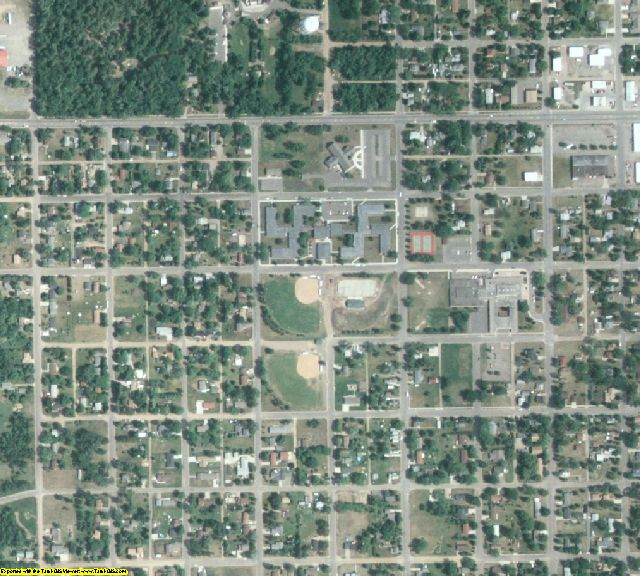 Morrison County, MN aerial photography detail