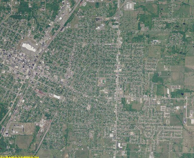 Muskogee County, Oklahoma aerial photography