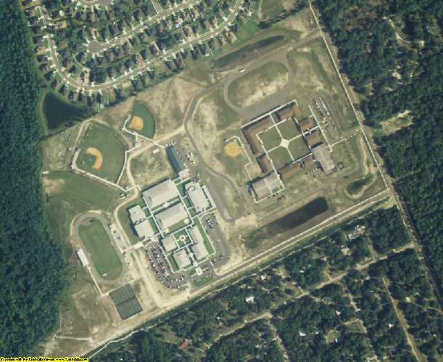 Nassau County, FL aerial photography detail