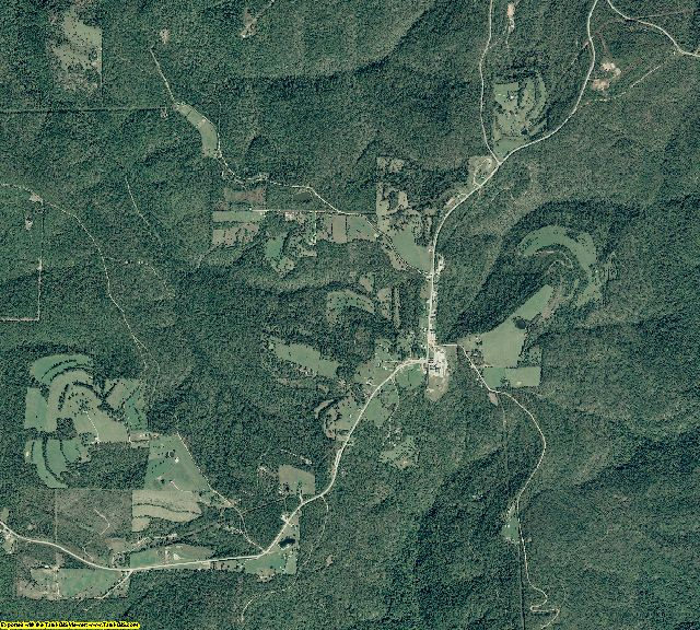 Newton County, Arkansas aerial photography
