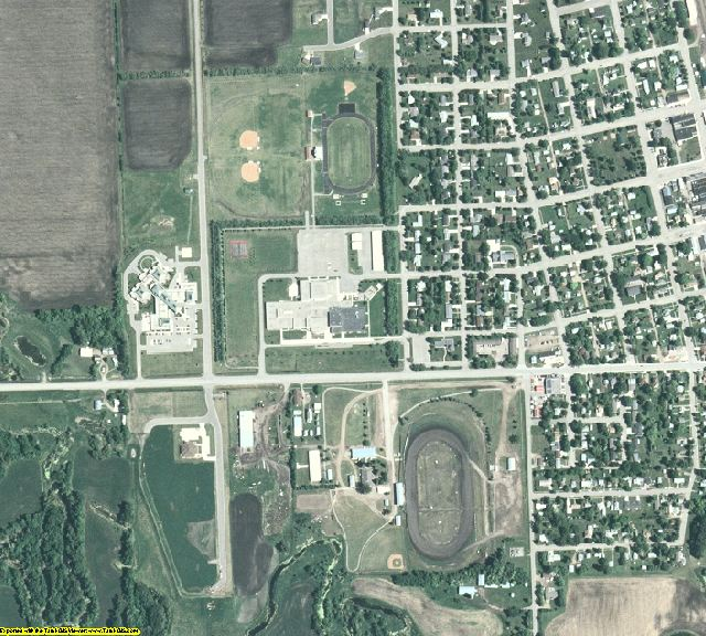 Norman County, MN aerial photography detail