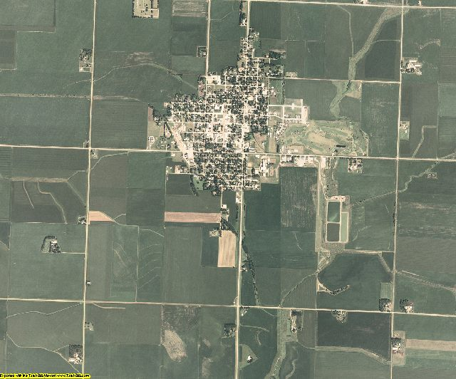 O'Brien County, Iowa aerial photography