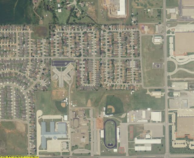 Oklahoma County, OK aerial photography detail