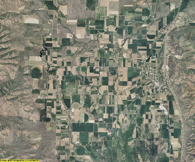 Oneida County, Idaho aerial photography