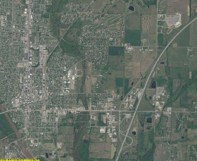 Ottawa County, Oklahoma aerial photography