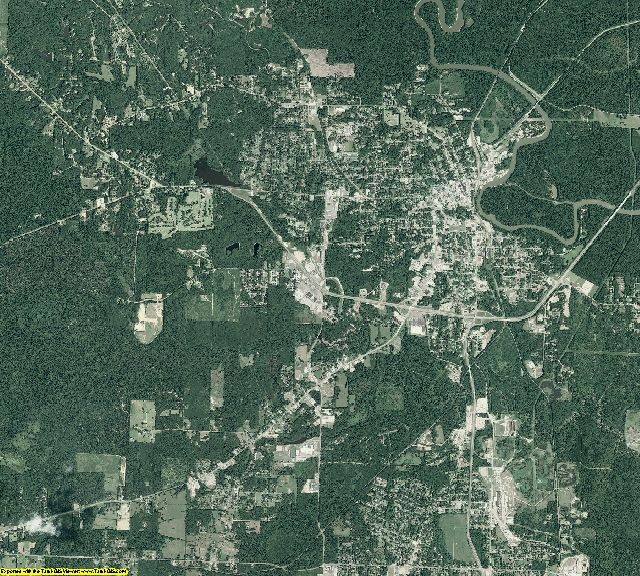 Ouachita County, Arkansas aerial photography
