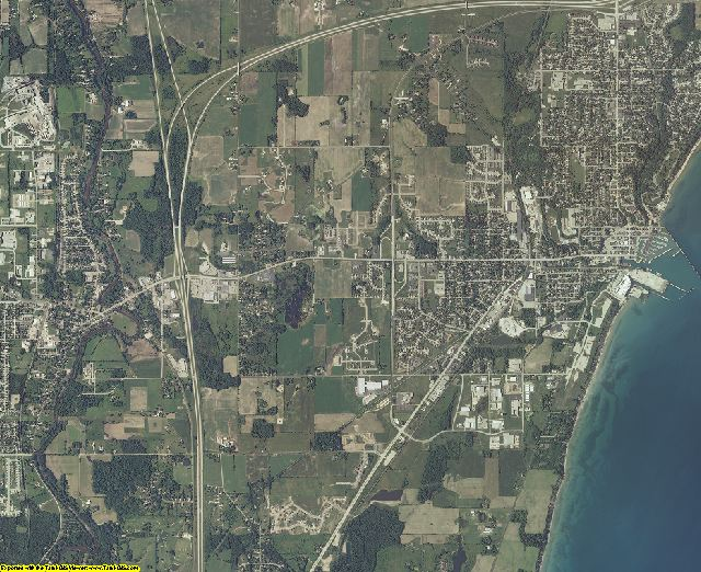 Ozaukee County, Wisconsin aerial photography