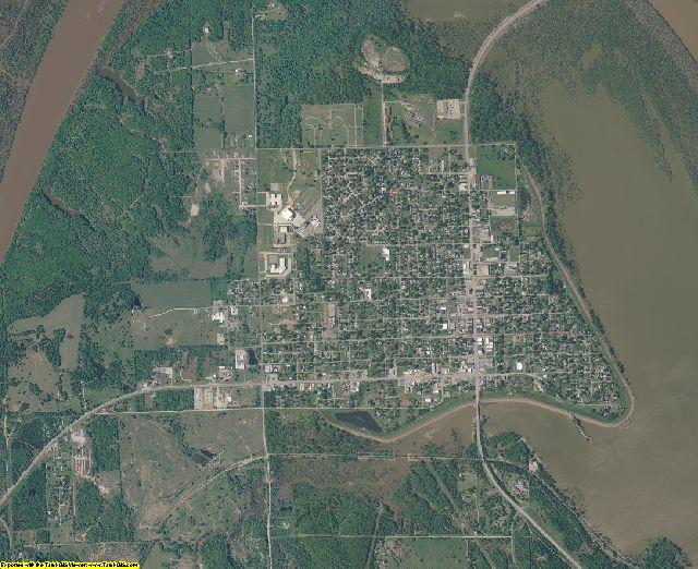Pawnee County, Oklahoma aerial photography
