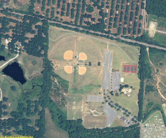 Peach County, GA aerial photography detail