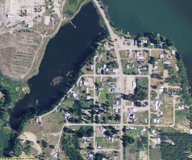 Pend Oreille County, WA aerial photography detail
