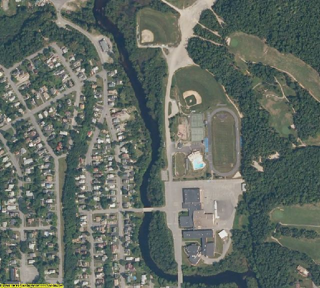 Penobscot County, ME aerial photography detail