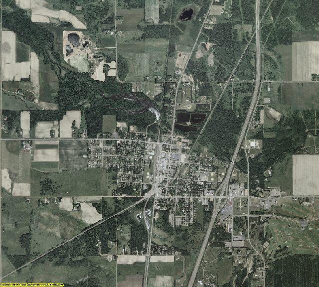 Pine County, Minnesota aerial photography