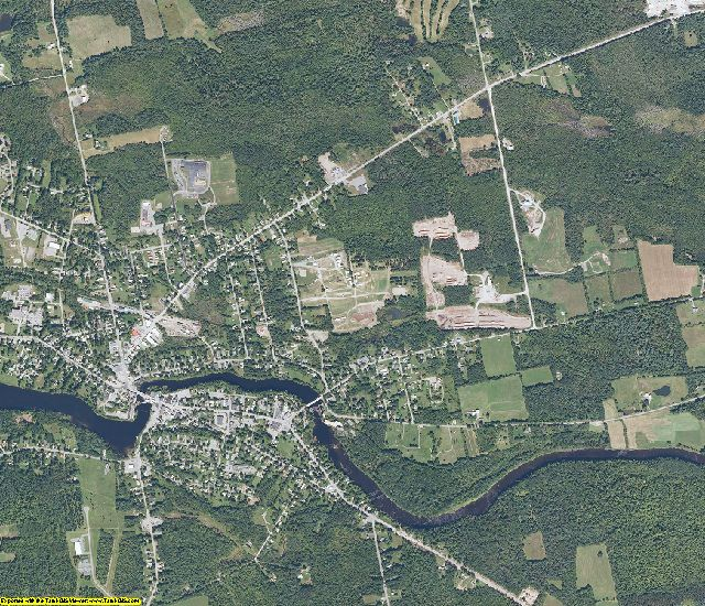 Piscataquis County, Maine aerial photography