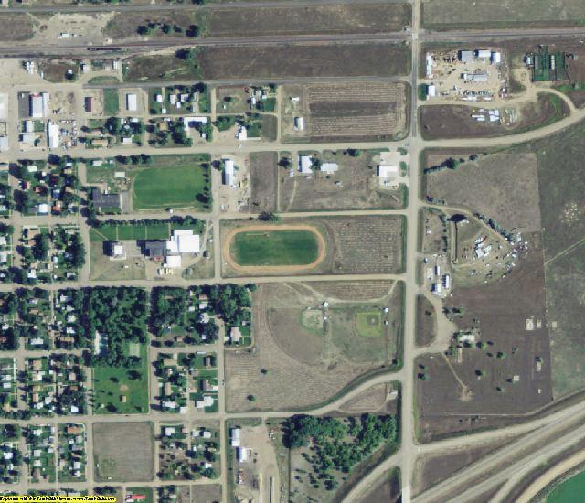 Prairie County, MT aerial photography detail