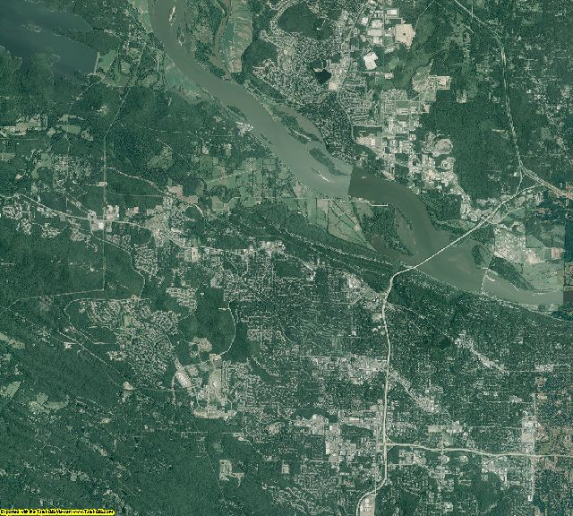 Pulaski County, Arkansas aerial photography