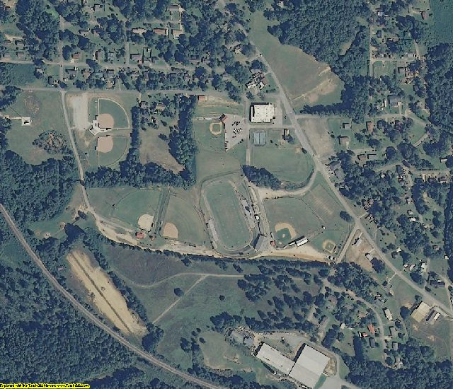 Randolph County, AL aerial photography detail