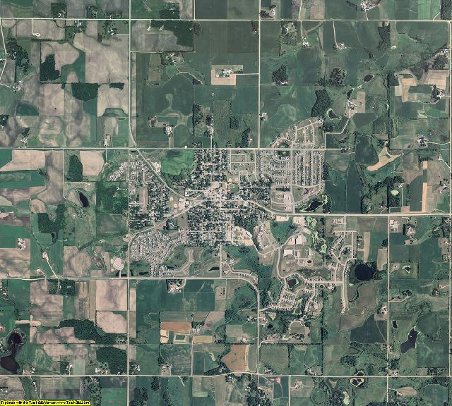 Rice County, Minnesota aerial photography