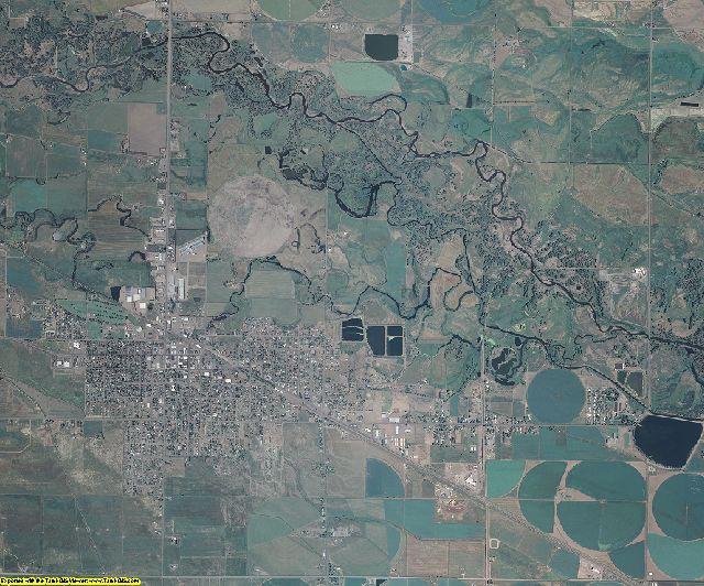 Rio Grande County, Colorado aerial photography