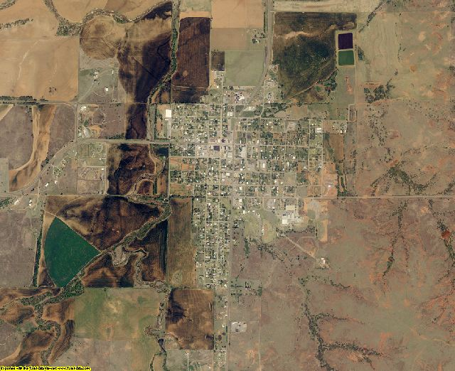 Roger Mills County, Oklahoma aerial photography