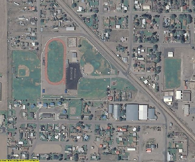 Saguache County, CO aerial photography detail
