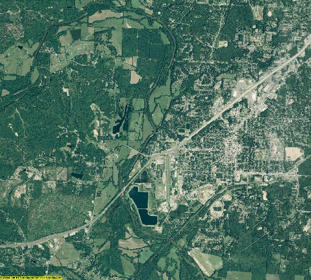 Saline County, Arkansas aerial photography