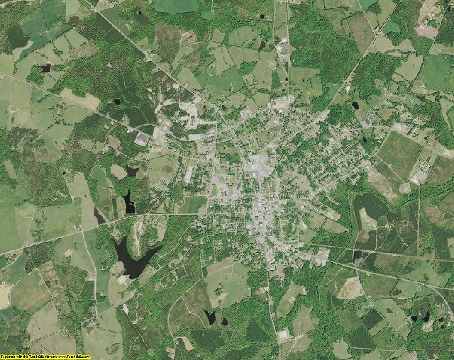 Saluda County, South Carolina aerial photography