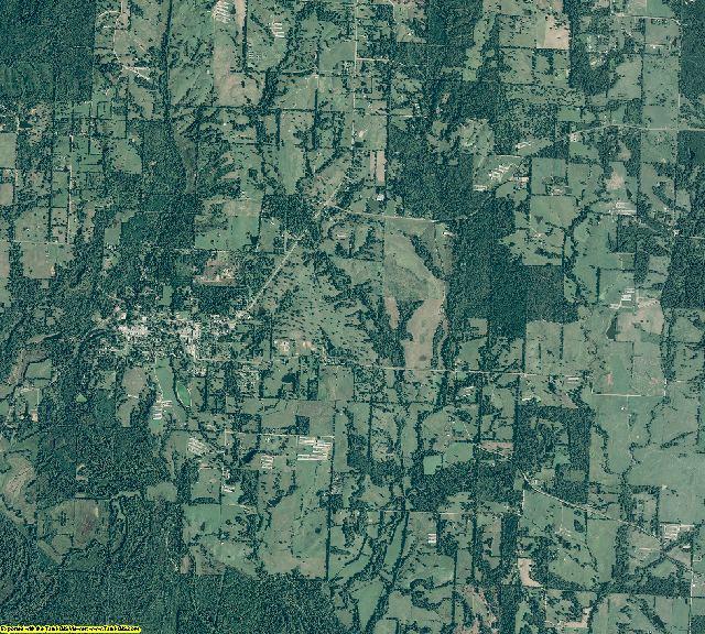 Sevier County, Arkansas aerial photography