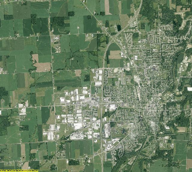 Shelby County, Ohio aerial photography