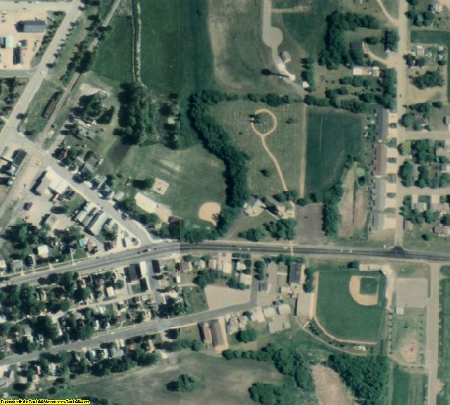 Sibley County, MN aerial photography detail