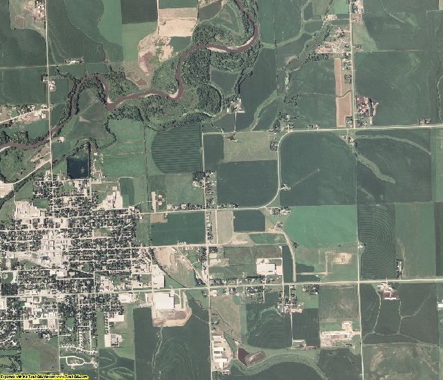 Sioux County, Iowa aerial photography