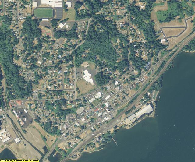Skamania County, WA aerial photography detail