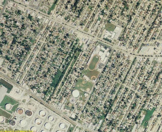 St. Bernard County, LA aerial photography detail
