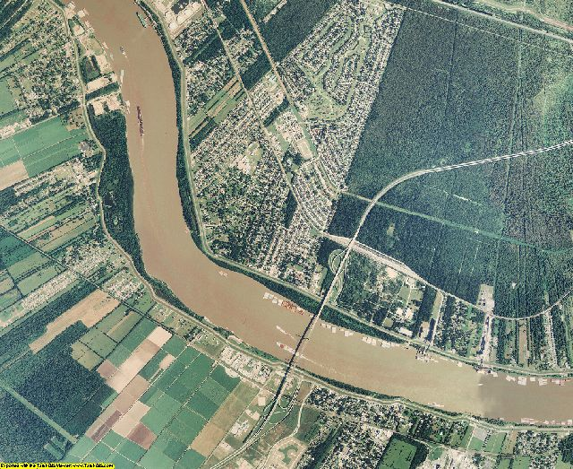 St. Charles County, Louisiana aerial photography