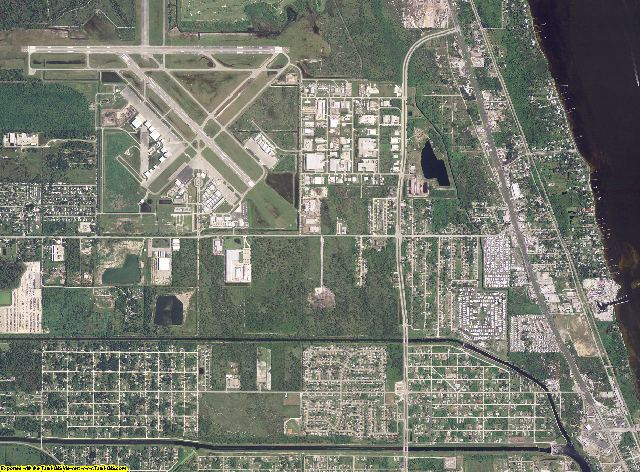 St. Lucie County, Florida aerial photography