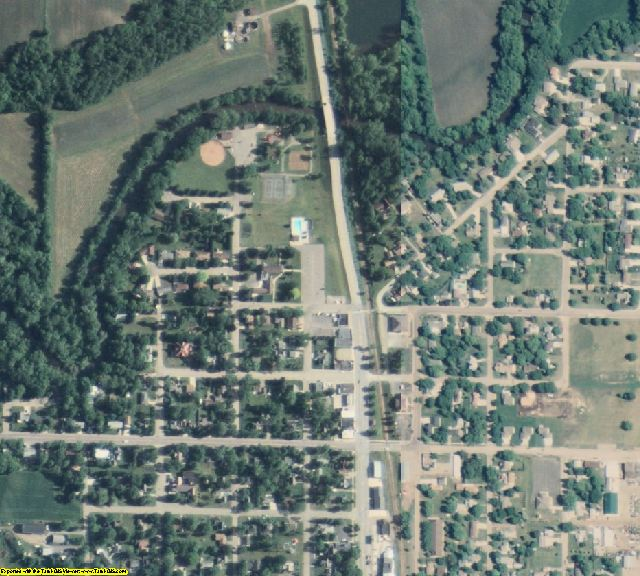 Steele County, MN aerial photography detail