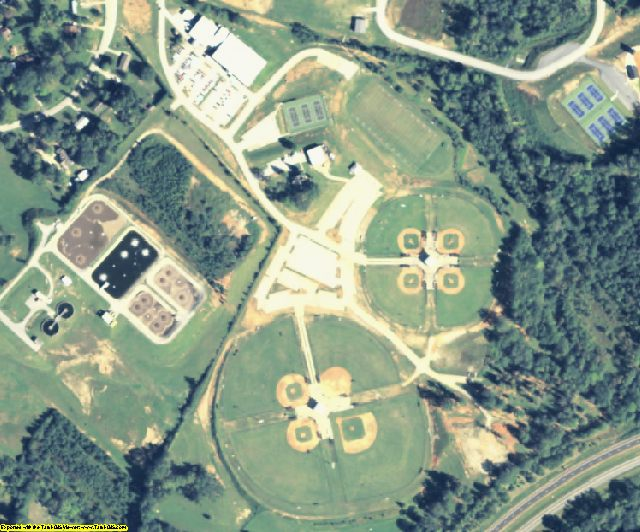 Stephens County, GA aerial photography detail