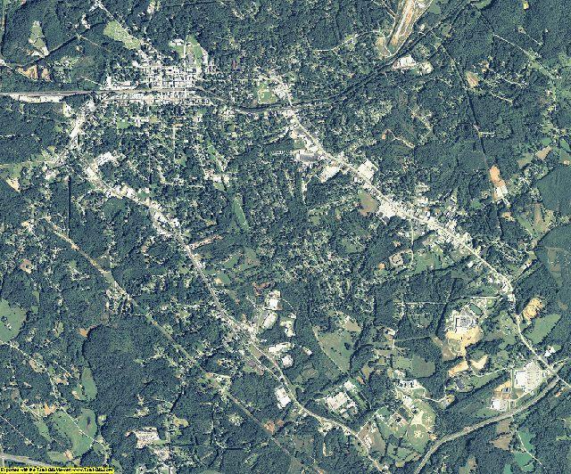 Stephens County, Georgia aerial photography