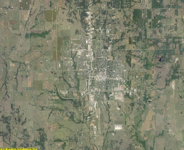 Stephens County, Oklahoma aerial photography