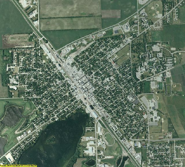 Stevens County, Minnesota aerial photography