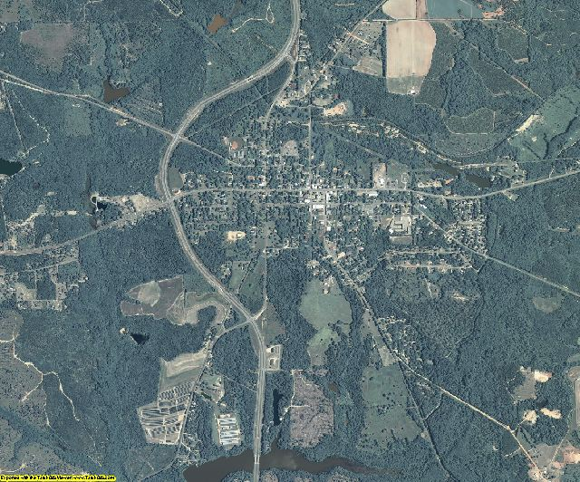 Stewart County, Georgia aerial photography